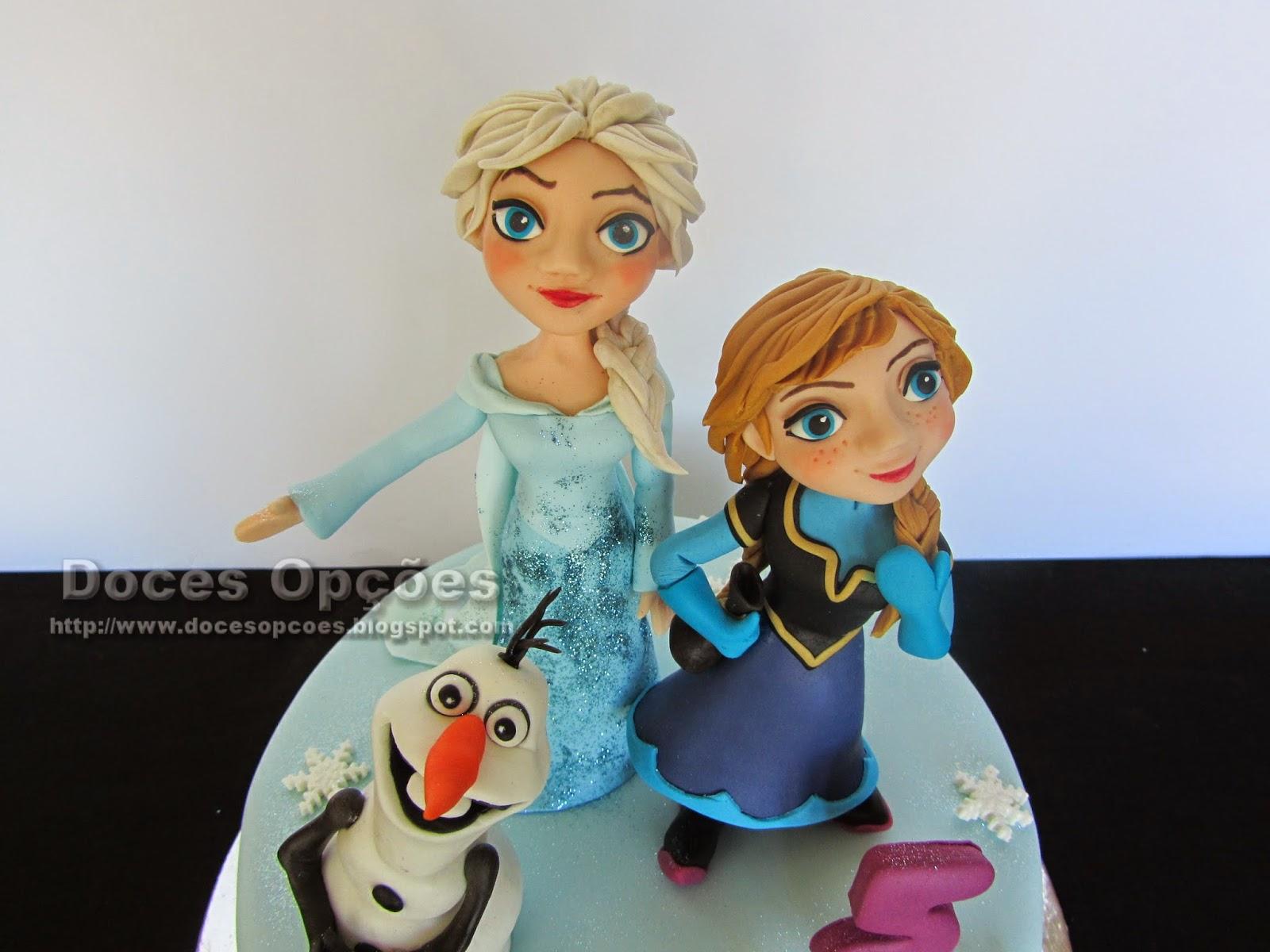 bolo aniversário disney frozen reino do gelo