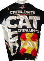 Mallot de ciclisme Catalunya de teixit de qualitat i increible disseny vista darrera