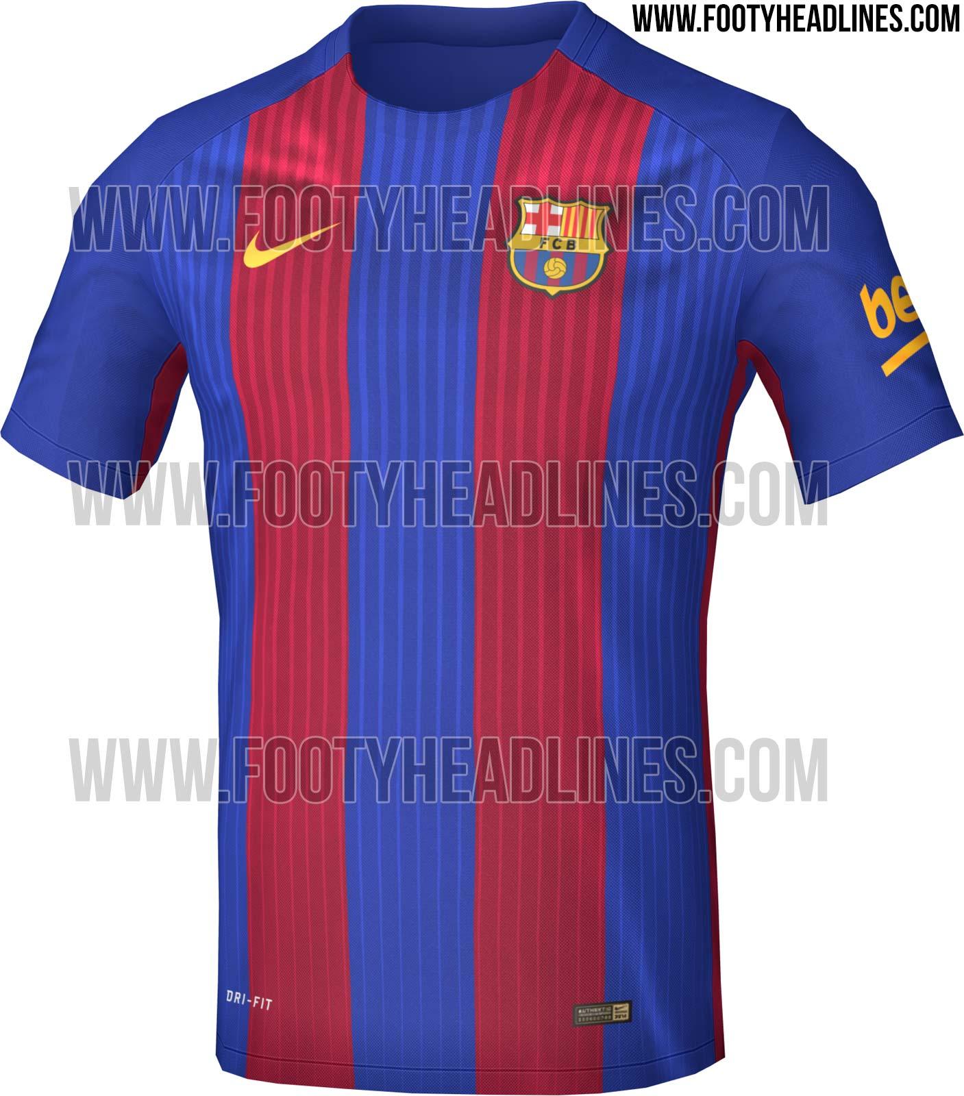 Barcelona 16 17 home kit leaked footy headlines - New home barcelona ...