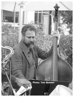 Joshua Abrams - Double Bass | MCA Chicago Free Jazz Tuesdays| Photograph by Tom Bowser