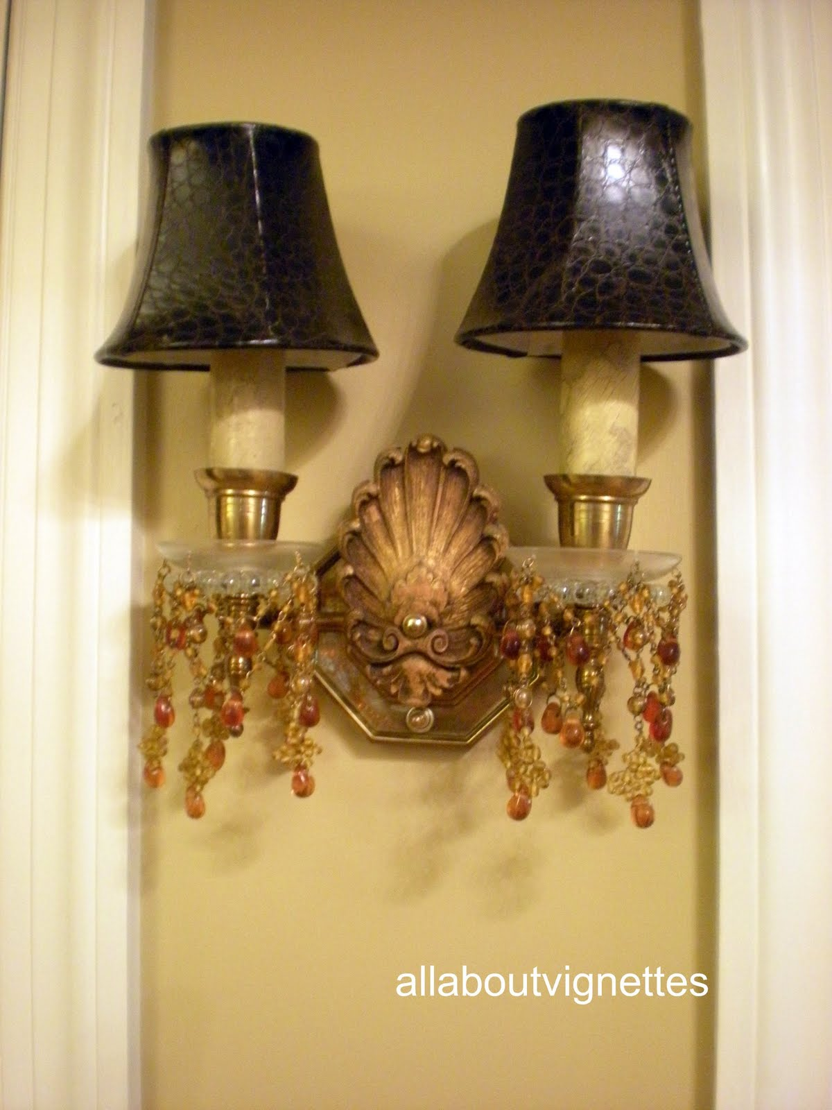 All About Vignettes: Foyer Wall Sconce Change Up