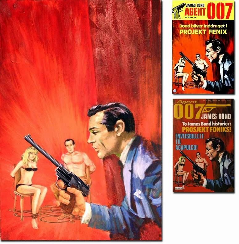 James Bond Book Cover Art : Illustrated the art of james bond july