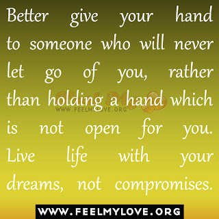Better give your hand to someone who will never let go