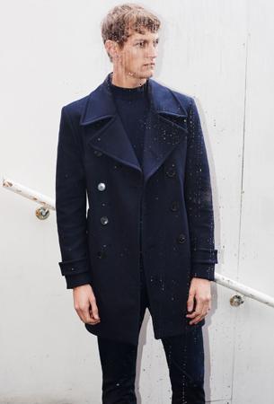 Abrigo zara hombre azul