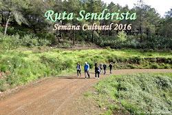 RUTA SENDERISMO SEM. CULT. 2016