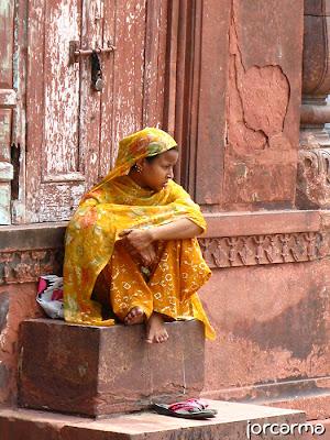 chica en Delhi