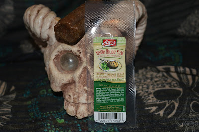 horned skull and dog treats