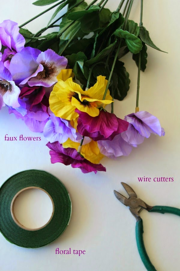 easy floral napkin rings