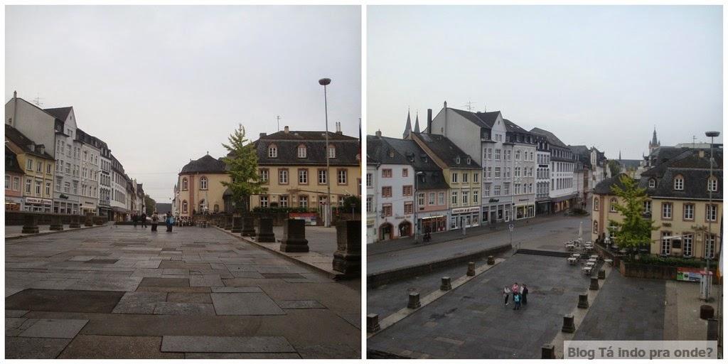 vista da Porta Nigra em Trier, Alemanha