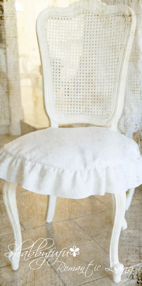 Shabby chic dining chair seat cover astronomy observing chairs