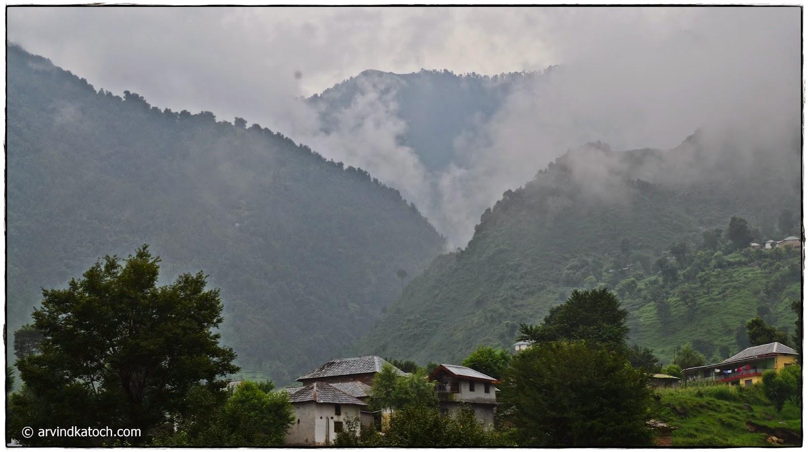 Himachali Village, Hills, Baijnath