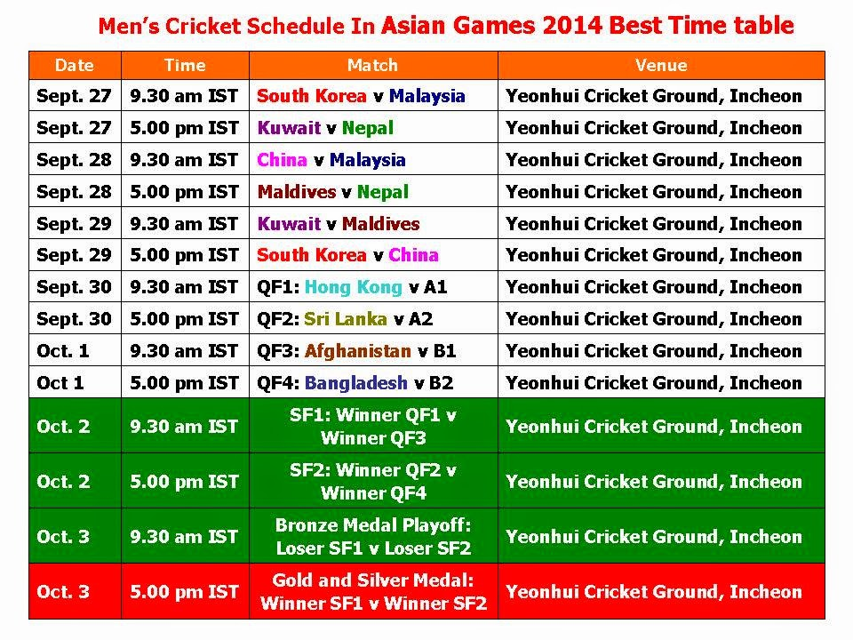 asia cup 2014 timetable download