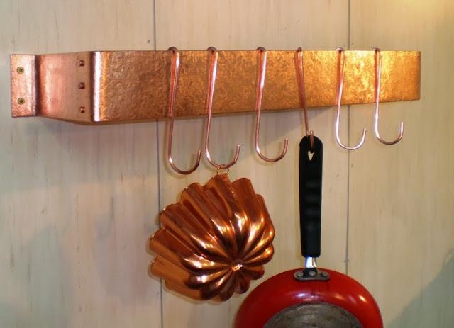Alejandra Creatini: DIY Copper Pot Rack Ideas