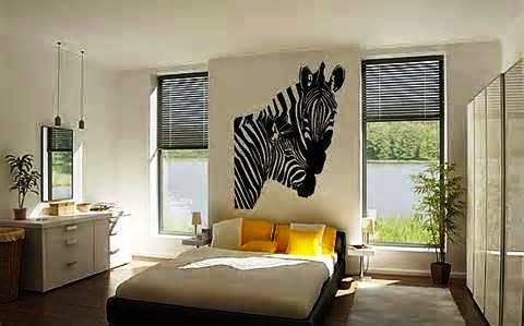 zebra print wall painting ideas