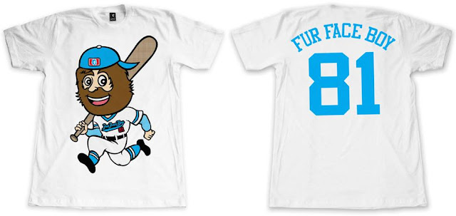 "Fur Face Boy 2012 Baseball Series T-Shirt Collection - ""FFB Big Head Mascot"""