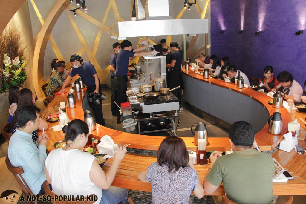 The limited seats in the Mendokoro Ramenba in Salcedo Village, Makati