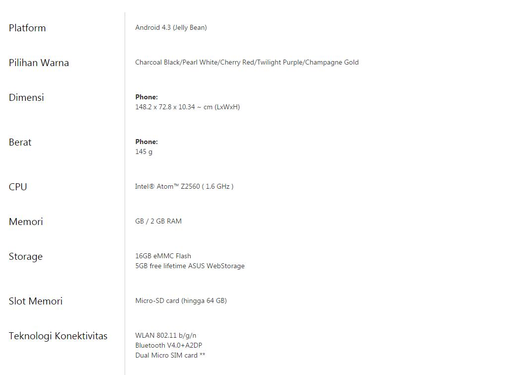 SMARTPHONE: Harga terbaru android Asus Zenfone 5