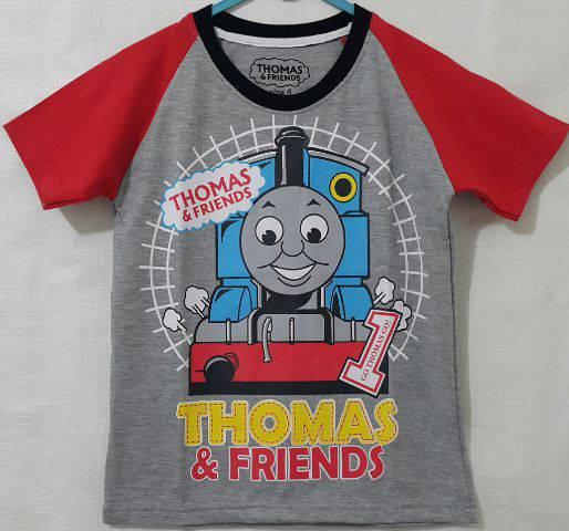 Baju Anak Karakter Thomas Abu Size 1 - 6 Tahun
