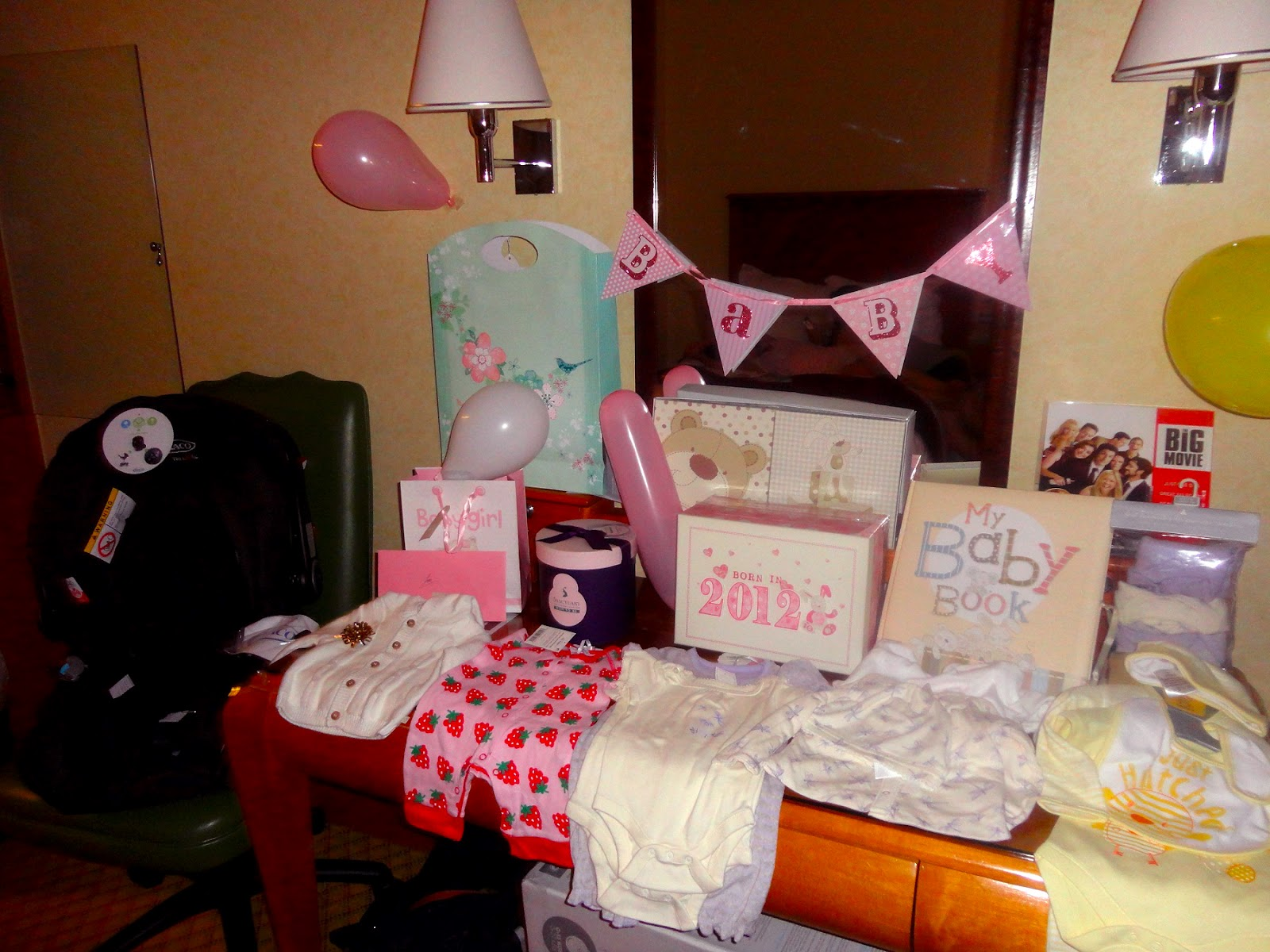 bliss then it was time to open the lovely baby shower gifts yayy
