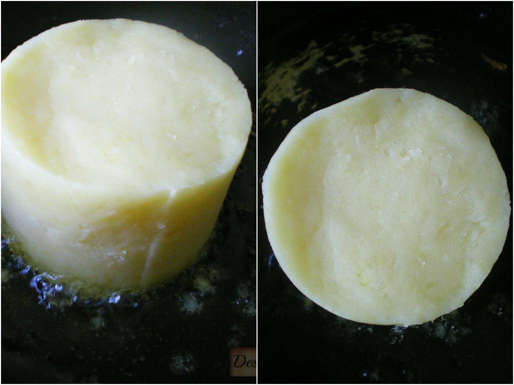 Pastel de coliflor aliñada (puré de patatas)