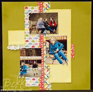 Sunshine and Sprinkles Scrapbooking Page by Stampin' Up! Demonstrator Bekka Prideaux - check her blog each Saturday for a new Scrapbook Page Idea