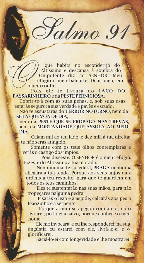 BLOG DO MANUEL MARIANO: SALMO 91 - LEIA, REFLITA E VIVA!