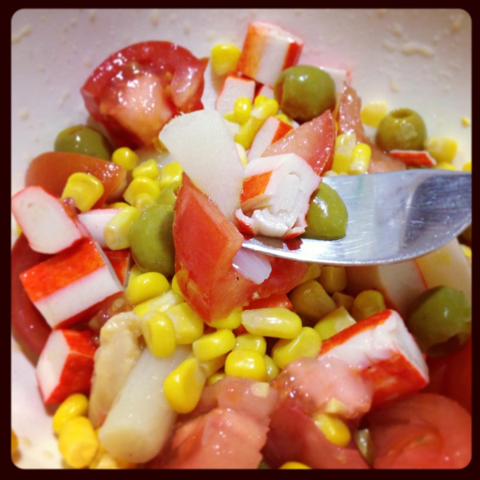 Ensalada de colores y bocas de mar la dieta alea blog - Cenar ligero para adelgazar ...