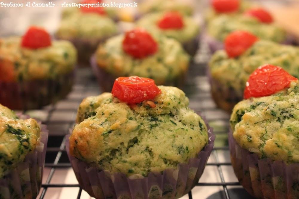 muffin salati ricotta e spinaci - facili da preparare, buoni da mangiare, belli da vedere