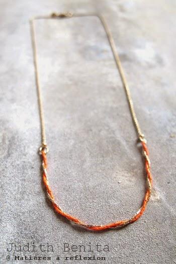 Sautoir Judith Benita bracelet sautoir doré rouge bijoux bliss