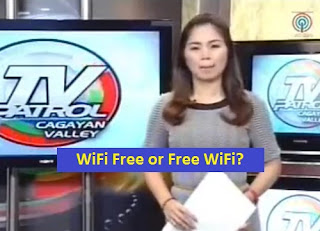 Isabela reporter on Free Wifi and Wifi free