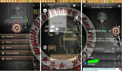 BBM MOD THEMES DARK WOOD NEW V2.9.0.44 APK