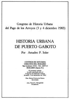 HISTORIA URBANA DE PUERTO GABOTO