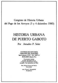 HISTORIA URBANA DE PUERTO GABOTO