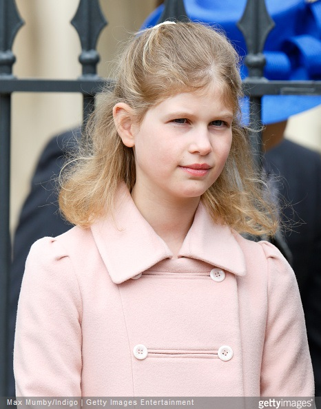 Lady Louise Windsor attends the Easter Matins service at St George's Chapel, Windsor Castle