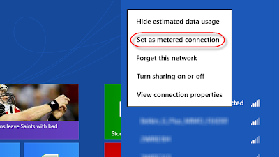 How to enable metered Wi-Fi connections in Windows 8