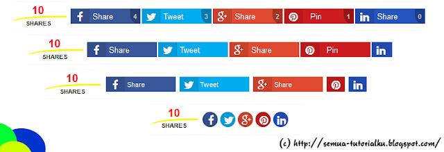 Cara Membuat Responsive Share Button Dengan Counter di Blog