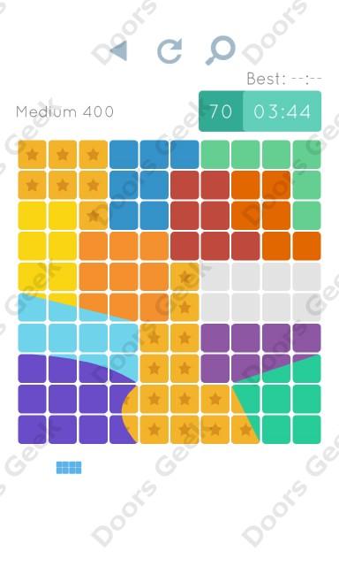 Cheats, Walkthrough for Blocks and Shapes Medium Level 400