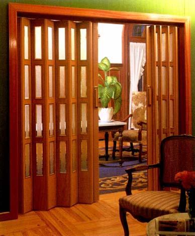 Puertas plegables per puertas plegables de pvc per for Ganchos para cortinas de madera