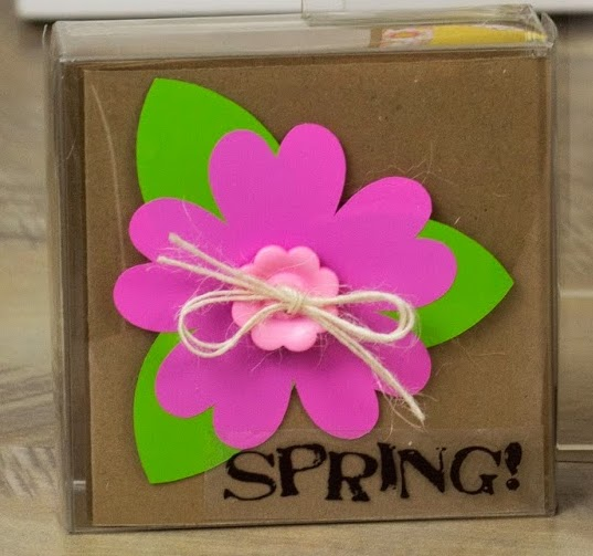 SRM Stickers Blog - Springtime Mini Cards by Corri - #cards #mini #clear box #gift #spring #vinyl
