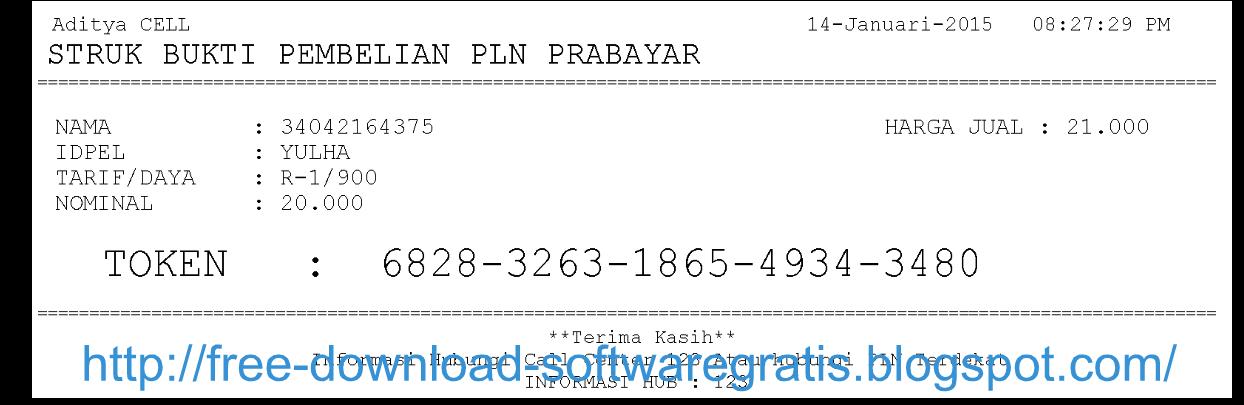 Download Aplikasi Cetak Struk Pln Prabayar Download Gratis