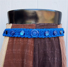 Brizel Satin Hip Button Belts