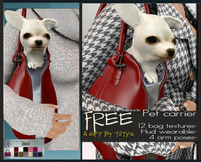TuTy's - FREE Mesh Pet Carrier with 12 bag textures