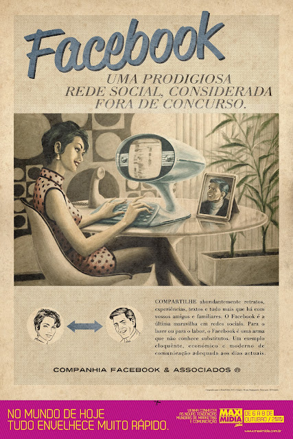 Propaganda do Facebook nos anos 60