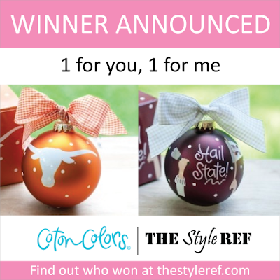 Coton Colors Holiday Ornaments Giveaway Winner