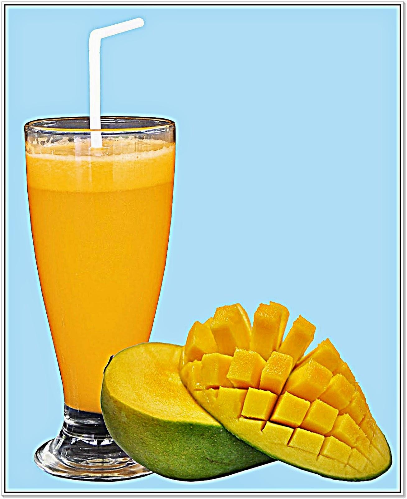 Jus buah mangga yang segar dan bermanfaat