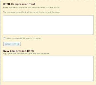 Cara Kompres HTML Blog