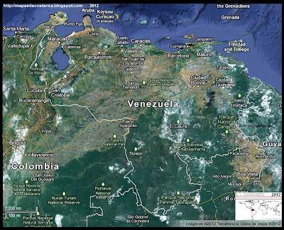 VENEZUELA, Vista Satelital de Google Maps