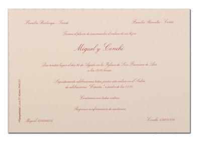 invitación de boda 3203907113 Busquets