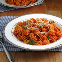 Roasted Red Pepper Pasta from Alida's Kitchen