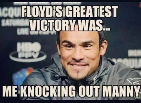 floyd greatest victory is marquez knocking out manny